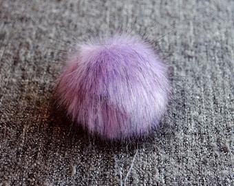 Size XS-XL ( lavender) faux fur pom pom 3.5- 6 inches / 9- 16 cm