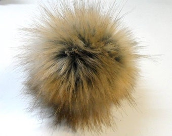 Size XS- XL imitation Fox fur pom pom 3.5- 6.3 inches /9- 16 cm