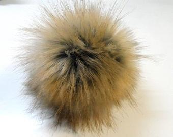 Size XL imitation Fox fur pom pom 6.5 inches /16 cm