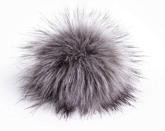 Size L faux fur pom pom 6 inches/ 15cm