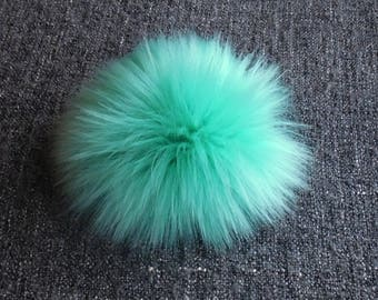 Size M-XXL (Mint) faux fur pom pom 5-7.5 inches/ 13- 18 cm