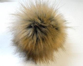Size M, imitation fox fur pom pom 5 inches/12 cm