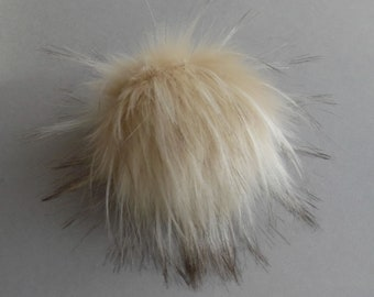 Size S-XL ( body skin beige ) faux fur pompom 4-6.5 inches/ 10- 16 cm