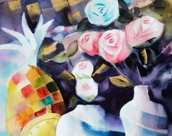 Original watercolor (12'' x 18'') / (31 x 46 cm)