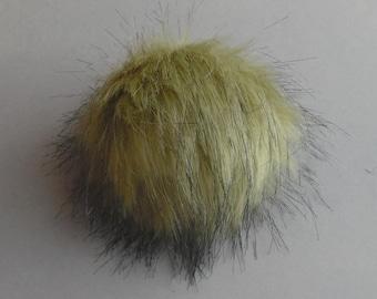 Size XS- XL ( light Olive ) faux fur pompom 3.5- 6 inches /9- 16 cm