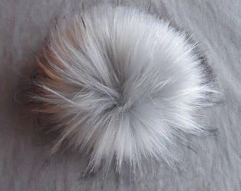 Size S (light grey) faux fur pom pom 4.5 inches/ 12cm