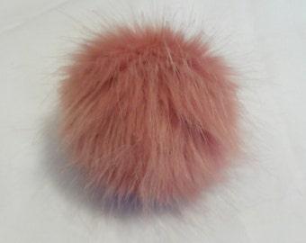 Size XS- XL faux fur pom pom 3.5- 6 inches/ 9- 16 cm