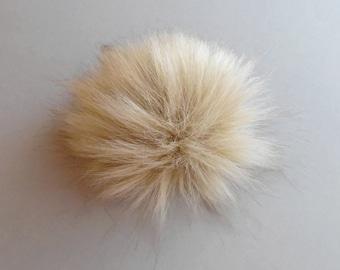 Size S-XL (light beige) faux fur pom pom 4-6.5 inches/ 11- 16 cm