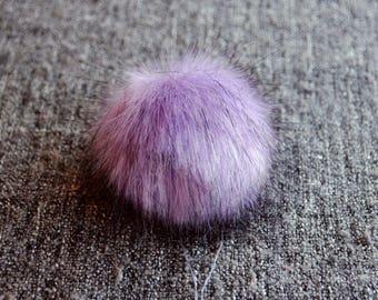 Size M (lavender) faux fur pom pom 5 inches/ 12cm