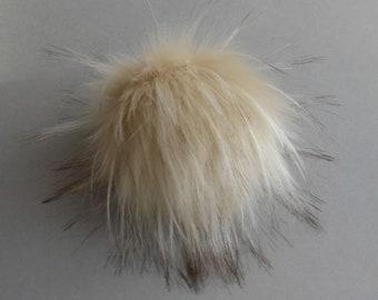 Size S-XL ( body skin beige ) faux fur pompom 4-6.5 inches/ 10- 16 cm