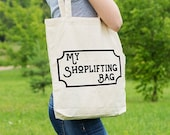 My Shoplifting Bag, Shopping Bag, Gift, Ethical Tote Bag, Cotton Tote Bag, Tote Shopper, Canvas Tote Bag, Market Tote Bag, Funny Tote Bag