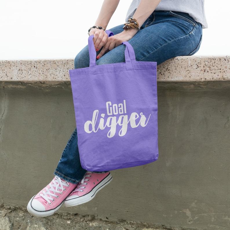 Organic Cotton Shopping Bag Market Bag Reusable Bag Eco Friendly Inspiration Tote Motivational Bag Grocery Bag Tote Bag Goal digger