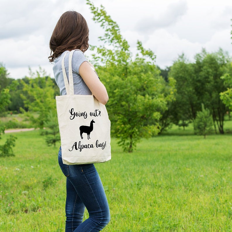 Market Tote Bag Canvas Tote Bag Tote Shopper Shopping Bag Alpaca bag Funny Tote Bag Ethical Tote Bag Gift for Her Cotton Tote Bag