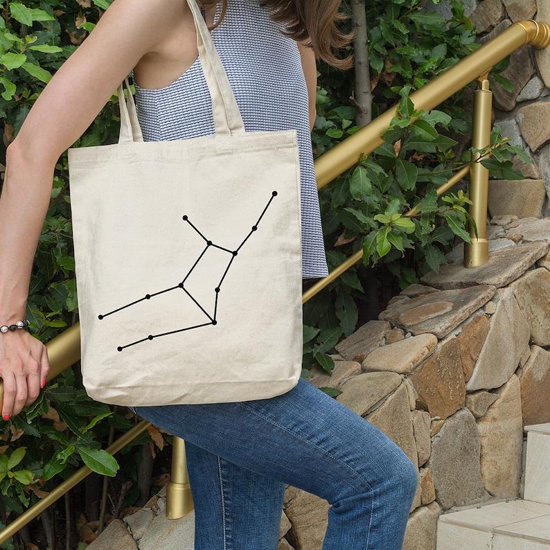 Funny Tote Bag Canvas Tote Bag Cotton Tote Bag Tote Shopper Market Bag Shopping Bag Gift Ethical Tote Bag Virgo constellation