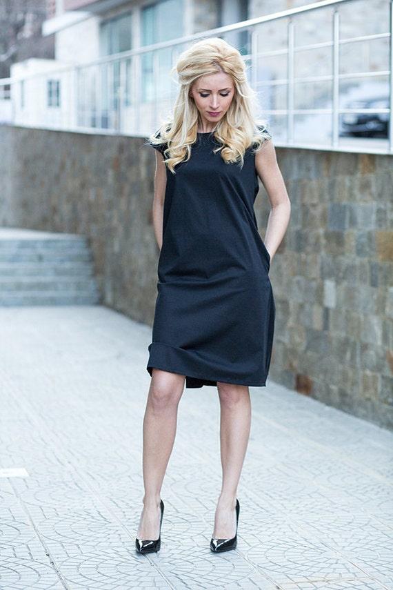 Short Black Dress Formal Dress Minimalist Clothing ...