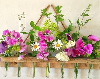 Handmade Hanging Flower Display Hangers/Test Tube Flower Holder