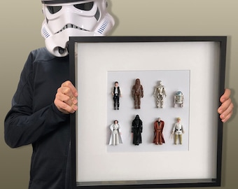 Star Wars Frame with Han Solo  and Chewbacca figures