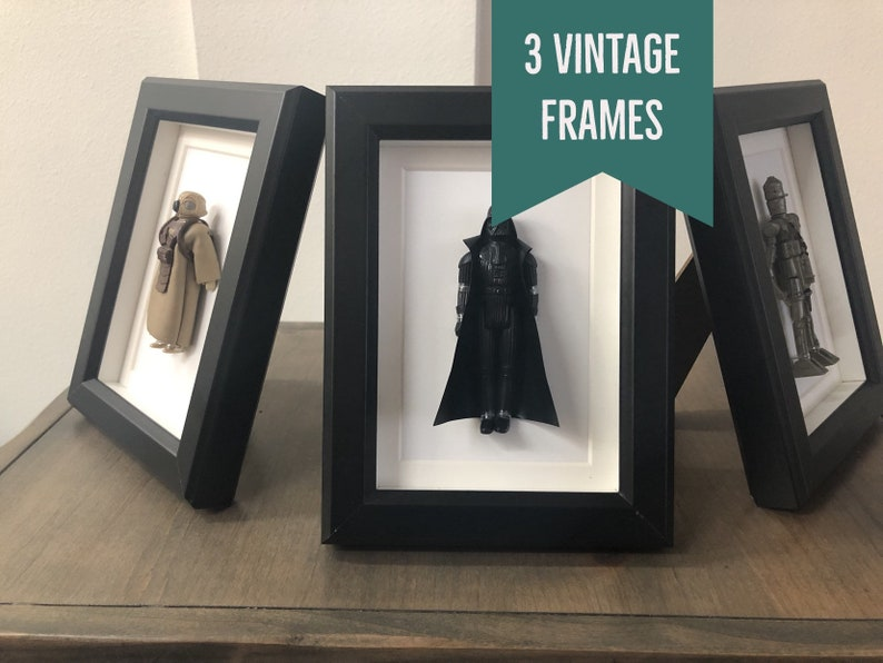 Labor Day Sale 50 Off Star Wars Man Cave Desk Frames Darth Vader Ig 88 Zackuss Man Cave Gift