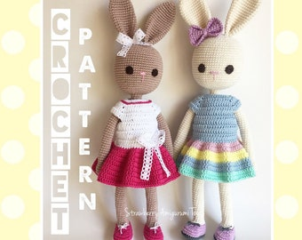 Amigurumi Crochet Bunny in Dress