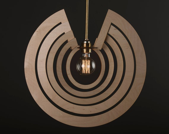 CIRCLE ORBIT / Wood Lamp / Wooden Lamp Shade / Hanging Lamp / Pendant Light / Decorative Ceiling Lamp / Modern Lamp