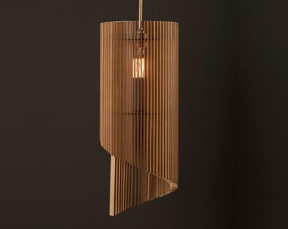 WAVE / Wood Lamp / Wooden Lamp Shade / Hanging Lamp / Pendant Light / Decorative Ceiling Lamp / Modern Lamp