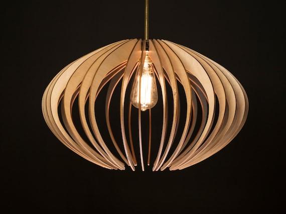 Elipse / Wood Lamp / Wooden Lamp Shade / Hanging Lamp / Pendant Light / Decorative Ceiling Lamp / Modern Lamp