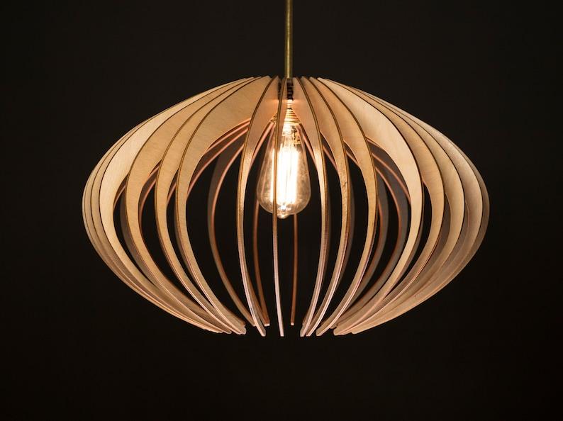 Elipse holz lampe holzlampenschirm hängelampe licht etsy