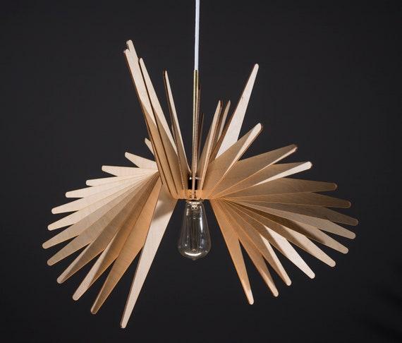 Bird / Wood Lamp / Wooden Lamp Shade / Hanging Lamp / Pendant Light / Decorative Ceiling Lamp / Modern Lamp