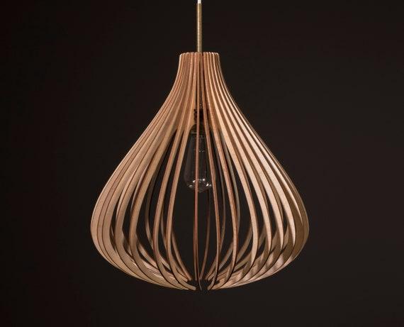 Fat Balloon / Wood Lamp / Wooden Lamp Shade / Hanging Lamp / Pendant Light / Decorative Ceiling Lamp / Modern Lamp