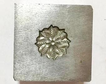 Flower bronze mandala deep impression die #88
