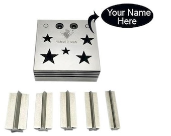 Disc cutter star set of 5 - Disk cutter - Metal Cutter - Stamping blanks - Die Punch - Star Blanks