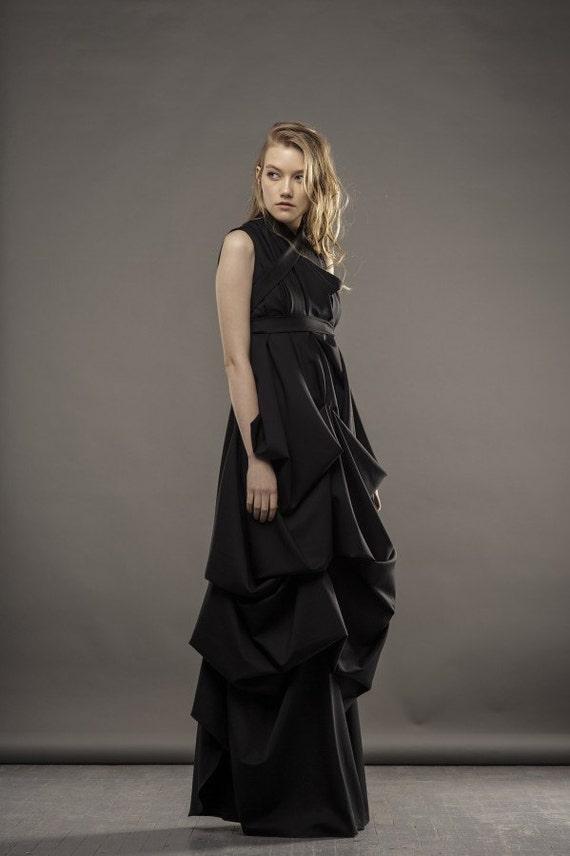 Black Wedding Dress Evening Gown Black Dress Maxi Dress Etsy