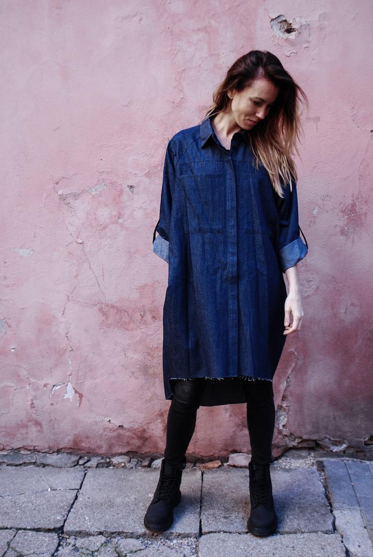 c7338a31c94 Denim shirt   Oversized shirt   Denim blouse   Denim shirt