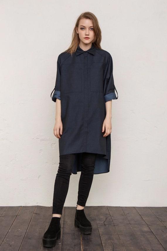 04c32e24c40 Plus size tunic   Shirt   Blouse   Denim   Shirtdress   Denim