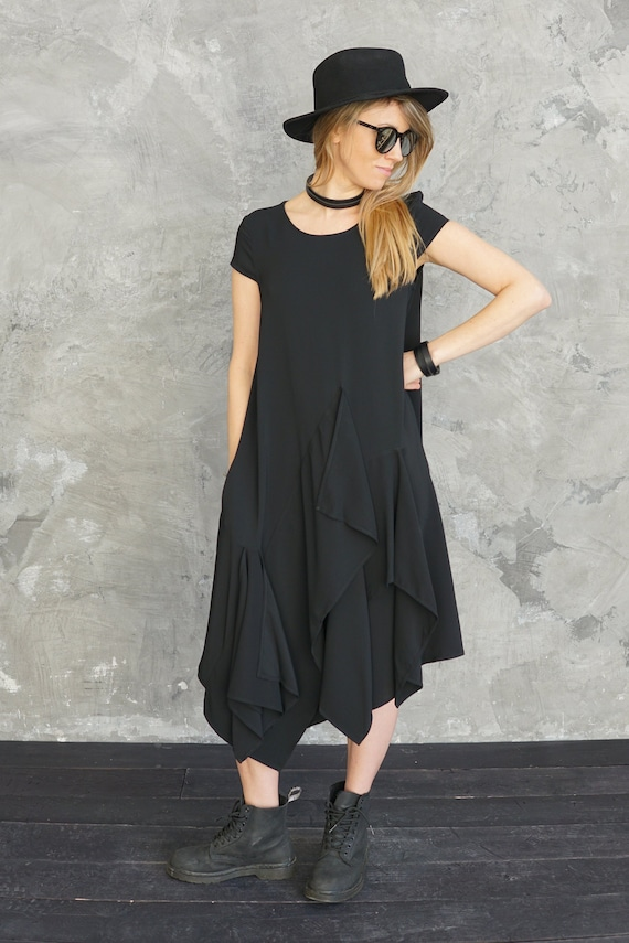 Black dress  Dress  Cocktail dress  Evening dress  Mini dress  Midi dress  Gift for her  Party dress Babydoll dress  Mini dress