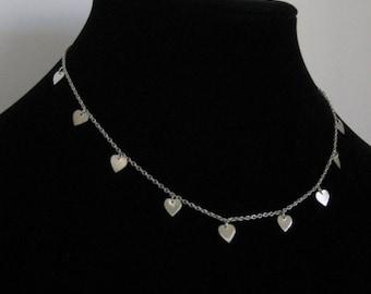 Cute Princess Length Heart Necklace