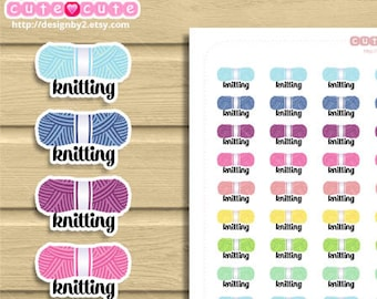 Knitting Point Printable Stickers. Knitting stickers sheets for your life planner: Happy planner, filofax, Recollections.