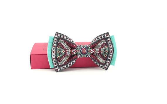 Armenian national carpet bow tie for man and kid