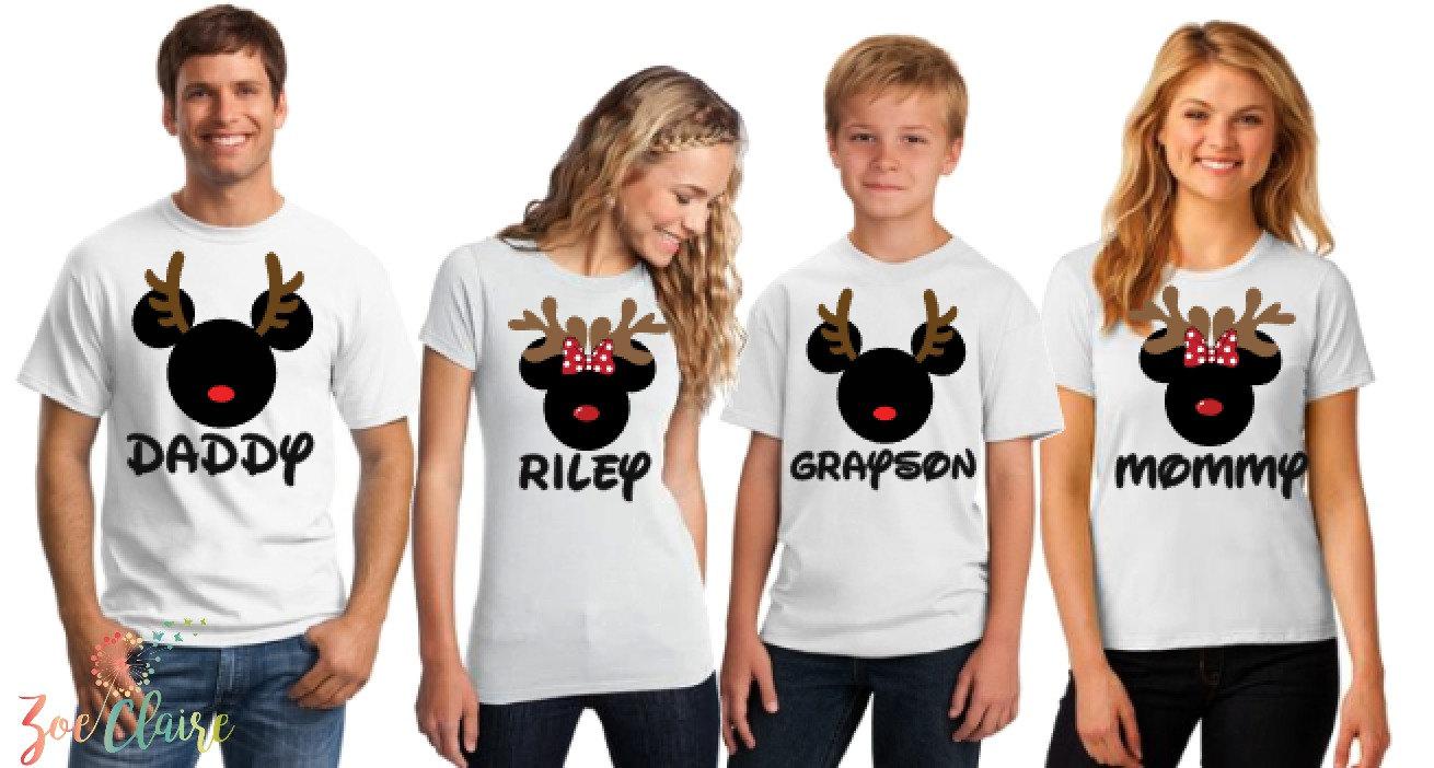 Disney Familie Shirts ich Weihnachten Familie Disney Shirts | Etsy