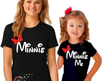 Disney Family Shirts, Disney World Family Shirts, Minnie Me Shirts, Mommy and Me Disney Shirts, Minnie Family Shirts, Family Disney Shirts
