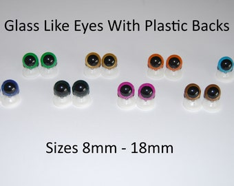 100pcs 10mm Color Plastic Safety Eyes for Teddy Bear Doll Animal Puppet Craft 10mm, Mixed