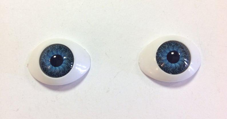 Nice 20MM Dark Blue Shining No Pupil Glass BJD Eyes for Reborn//newBorn BJD Doll