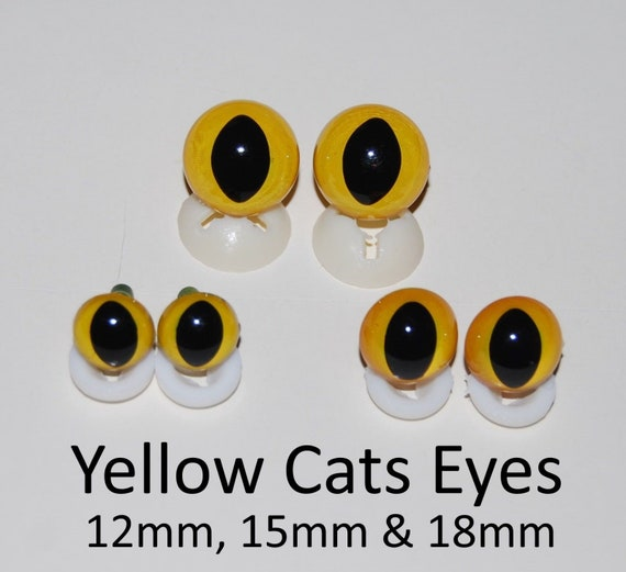 2 Per Pack Craft Safety Cats Eyes 18mm Toy
