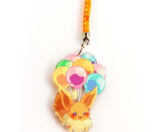 Doublesided 1.5 Inch Eevee Charm