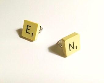 """Ring lettre Scrabble """"count double"""" - Marie de la Louise"""