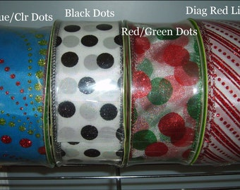 Ribbon Sale 50 Yards for 5 + s/h - Wired Christmas Tree Topper Bow Ribbons 2
