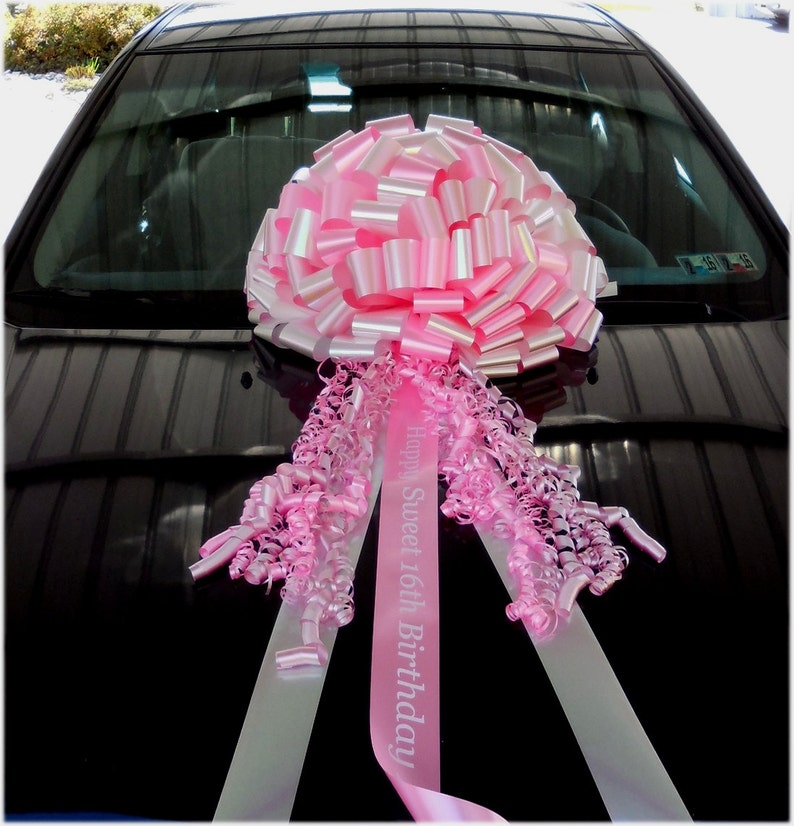 NEW 20in Affordable Car Bow for Sweet 16 Birthday or PINK/OPAL