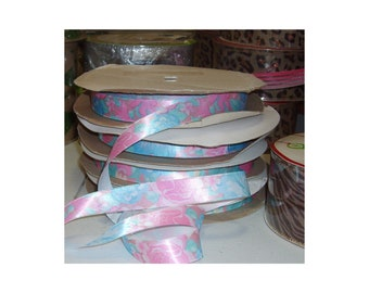 Floral Satin Ribbon for Florist Crafts Wreath and Gift Bows