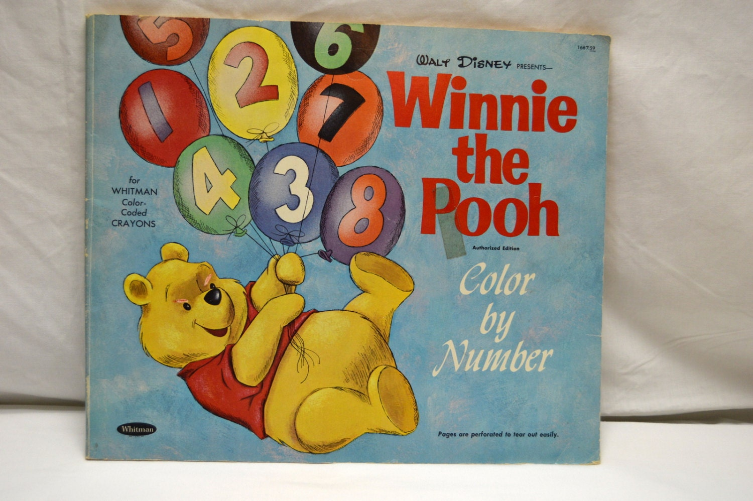VTG Walt Disney Winnie the Pooh 1965 Whitman Color by Number | Etsy