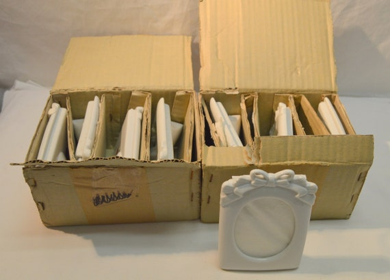 Vtg Nos Porcelain Ceramic Picture Frames Ready To Paint Lot Of Etsy
